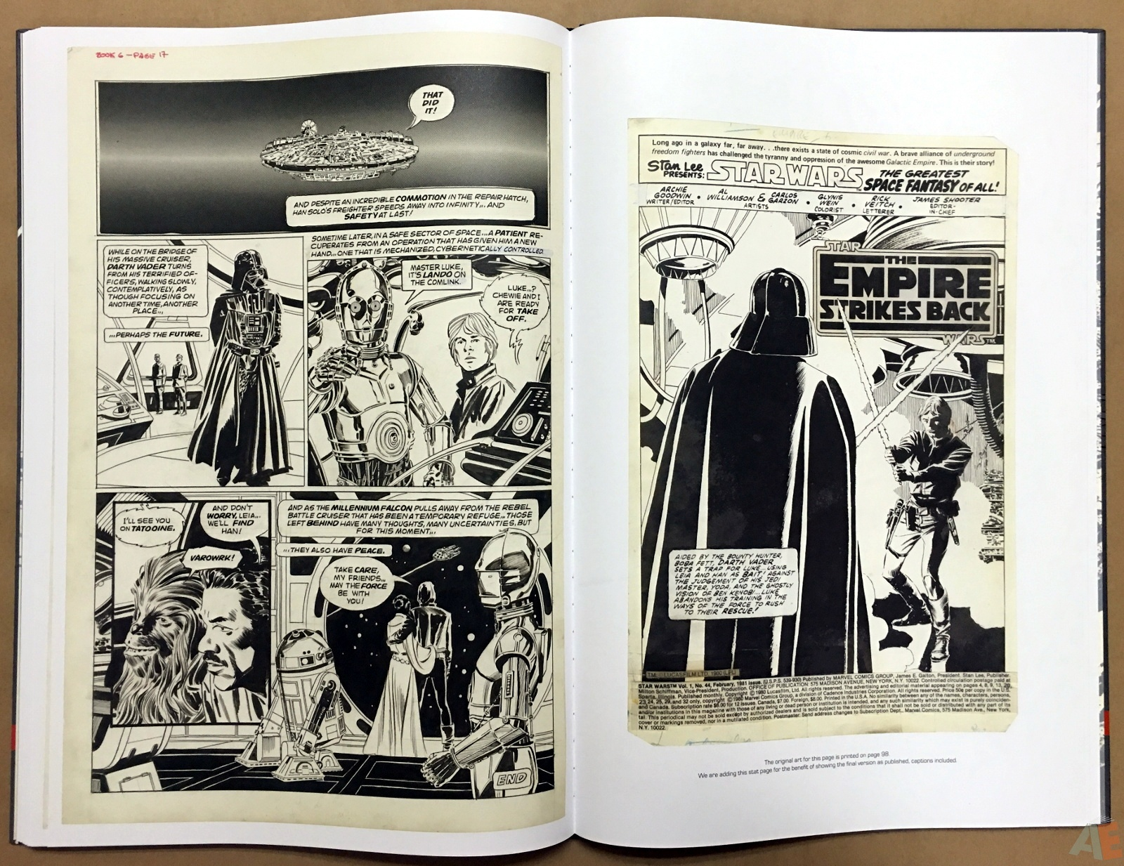 Al Williamson's Star Wars: The Empire Strikes Back Artist's Edition 36