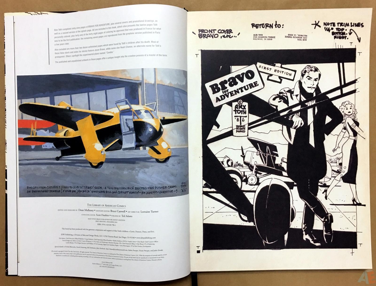 Alex Toth's Bravo For Adventure Artist's Edition 4