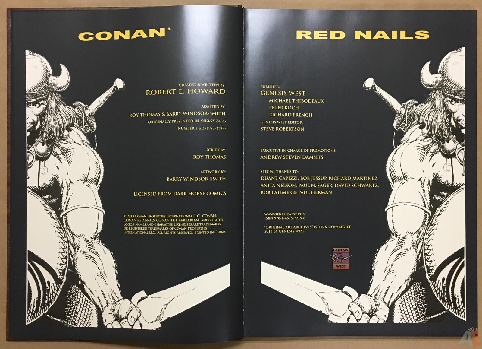 Conan: Red Nails Original Art Archives Volume 1 4