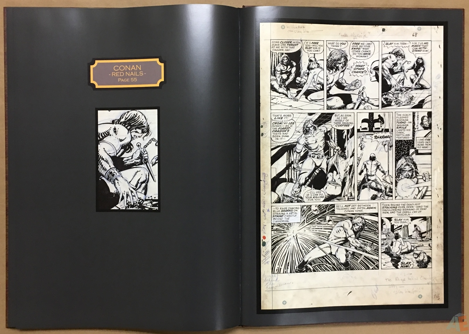 Conan Red Nails Original Art Archives Volume 1 Artist S Edition Index