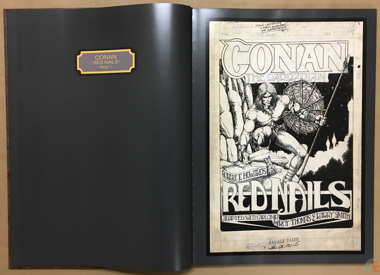 Conan: Red Nails Original Art Archives Volume 1 10