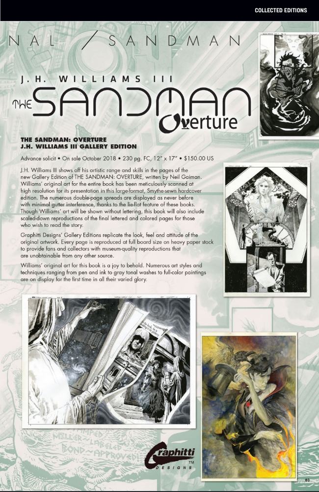 """Sandman: Overture Gallery Edition """"To be resolicited"""" 1"""