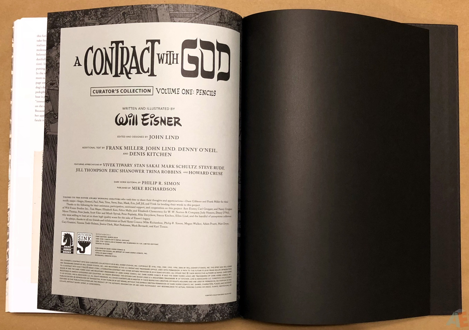 Will Eisner's A Contract with God Curator's Collection 52