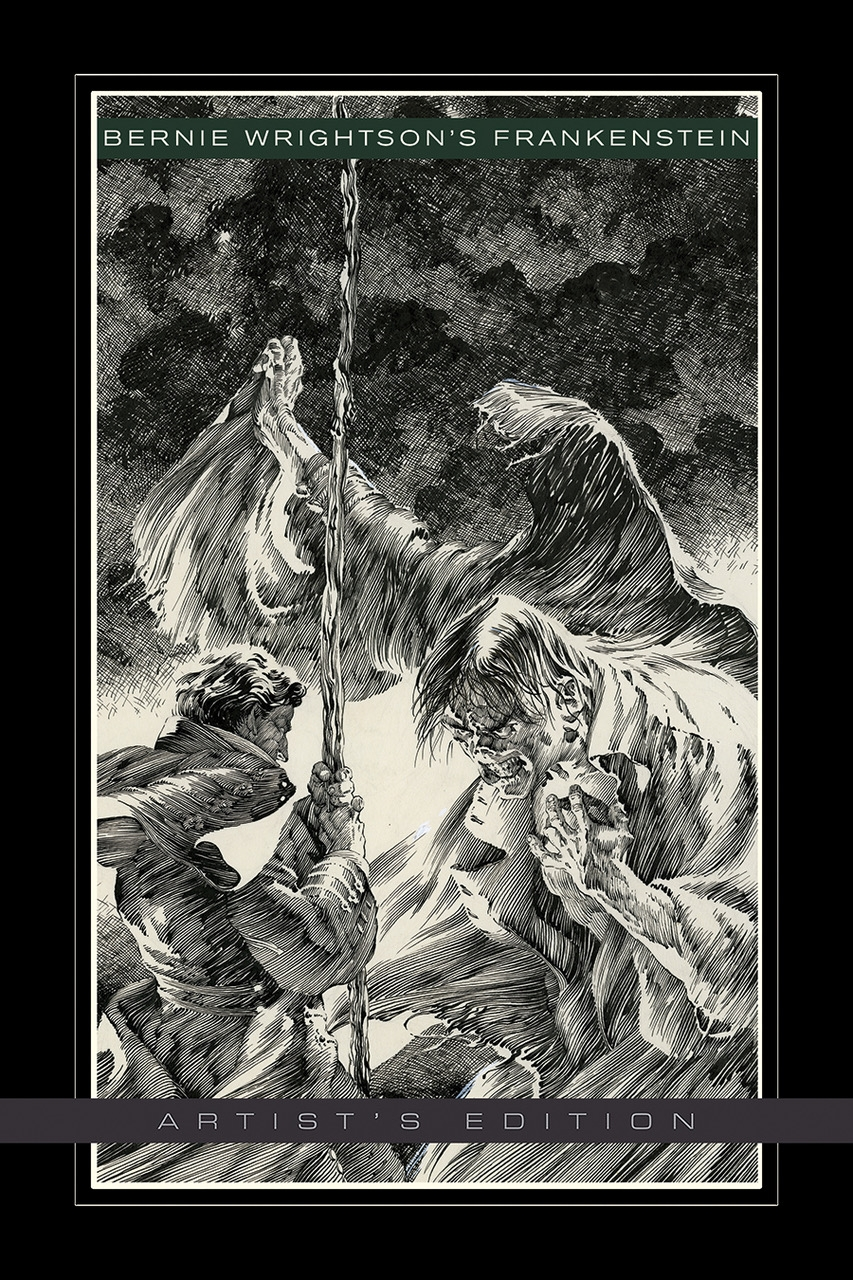 Bernie Wrightson's Frankenstein Artist's Edition cover prelim