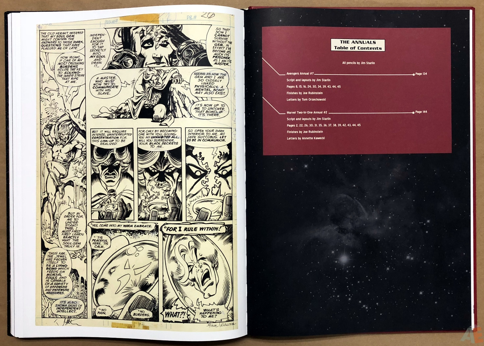Jim Starlin's Marvel Cosmic Artifact Edition 36