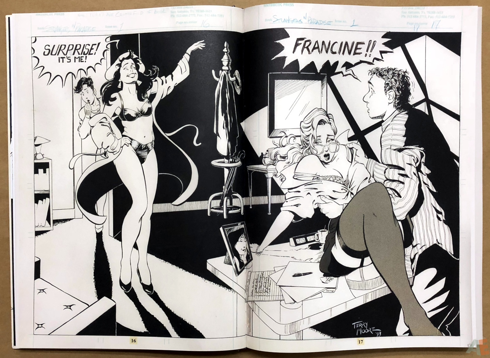 Terry Moore Strangers In Paradise Gallery Edition 12