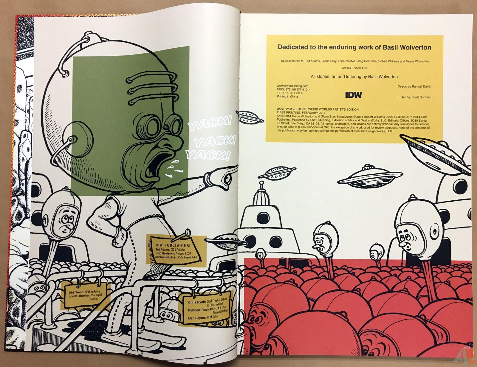 Basil Wolverton's Weird Worlds Artist's Edition 4