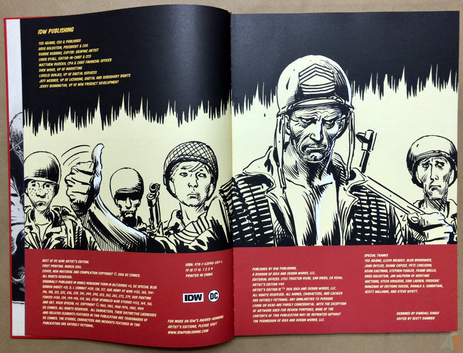 Best of DC War Artist's Edition 4