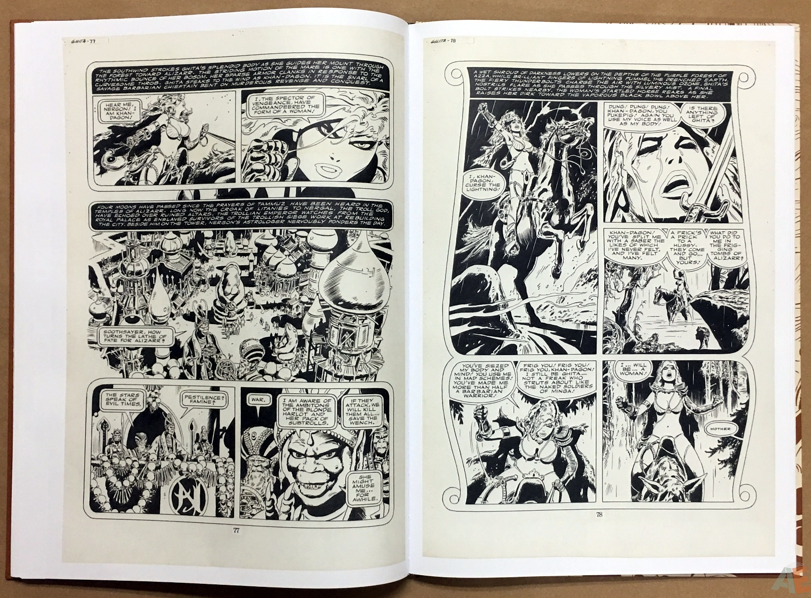 Frank Thorne's Ghita An Erotic Treasury Archival Edition Volume 1 22