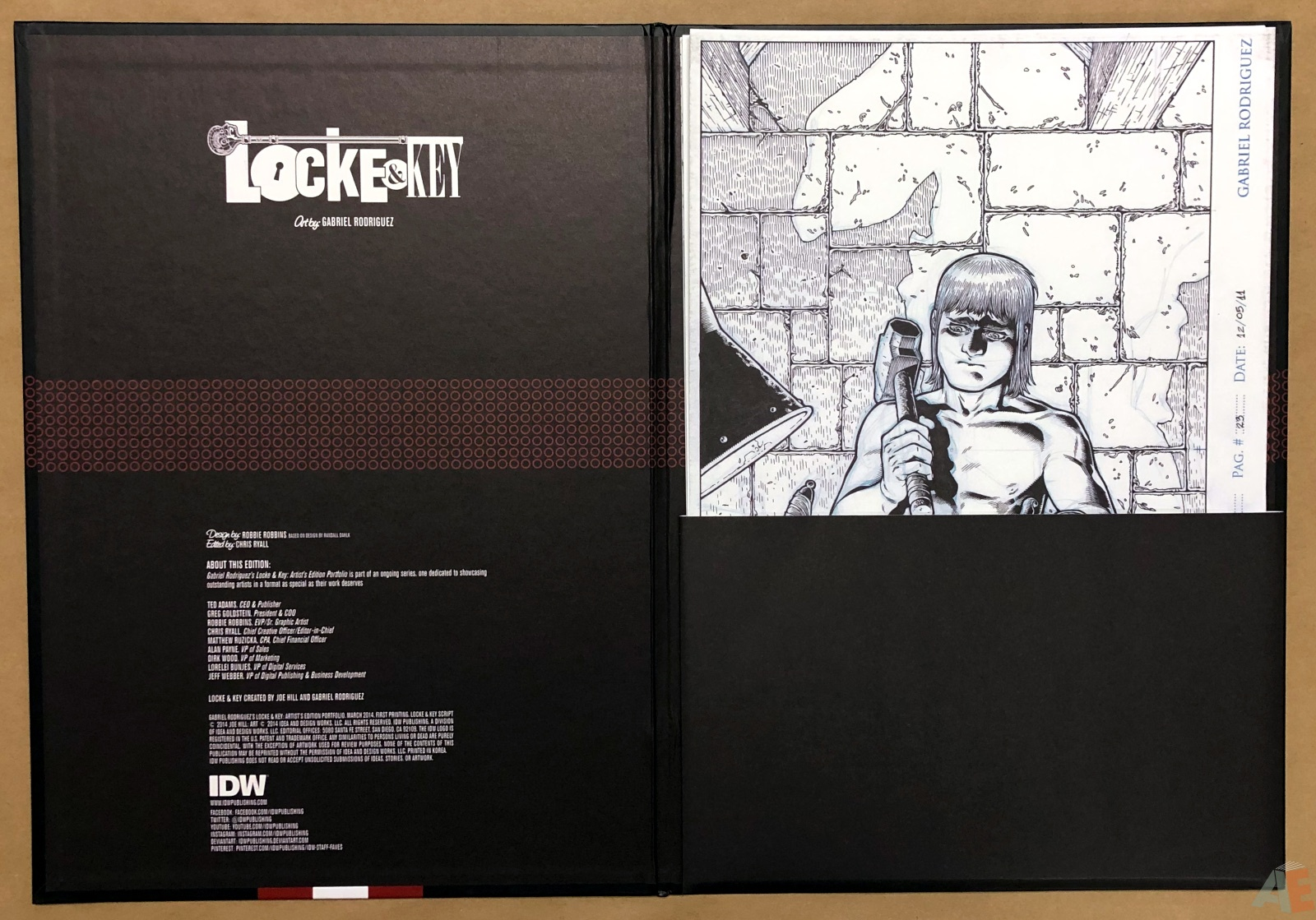 Gabriel Rodriguez's Locke & Key: Artist's Edition Portfolio 4
