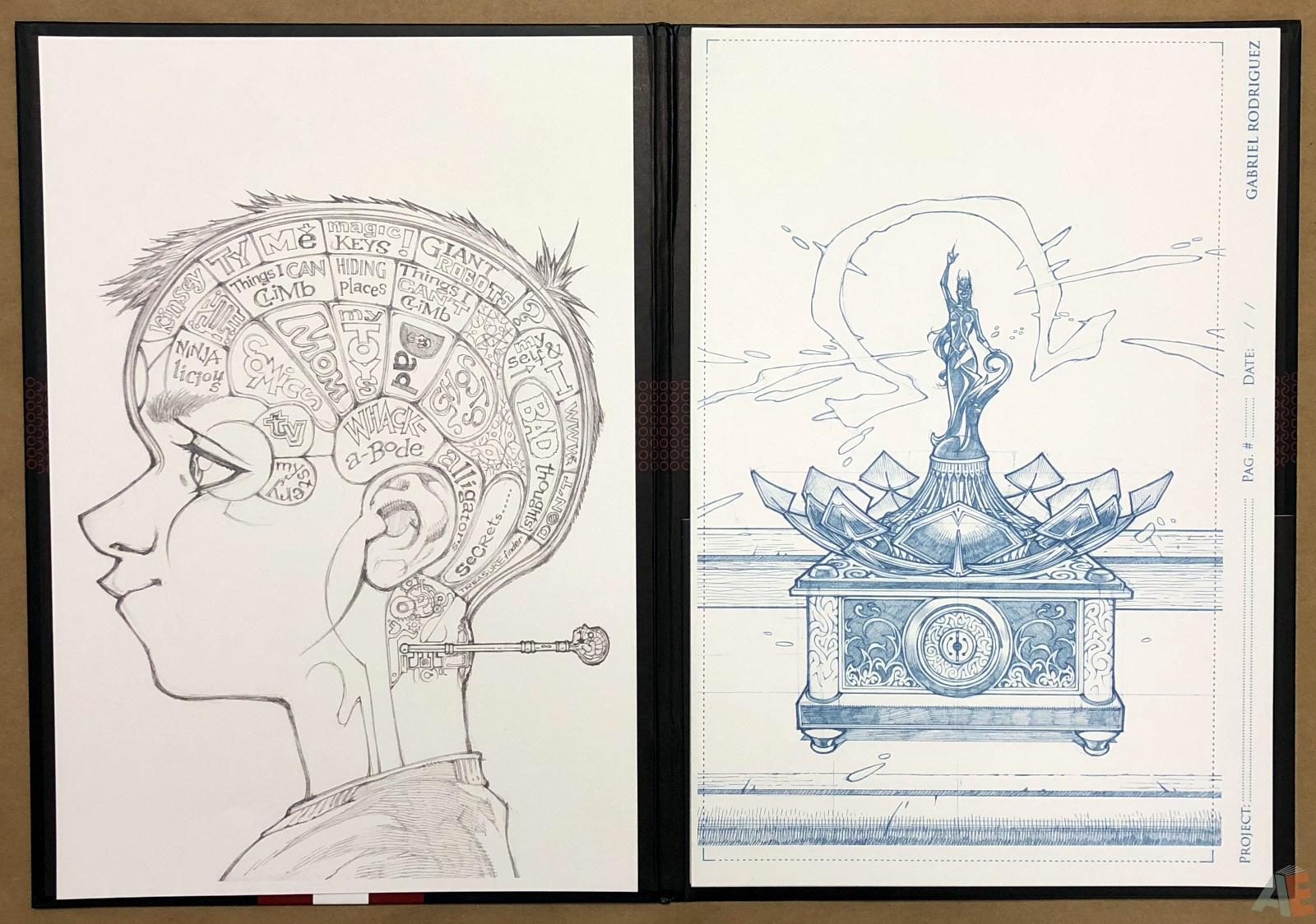 Gabriel Rodriguez's Locke & Key: Artist's Edition Portfolio 8