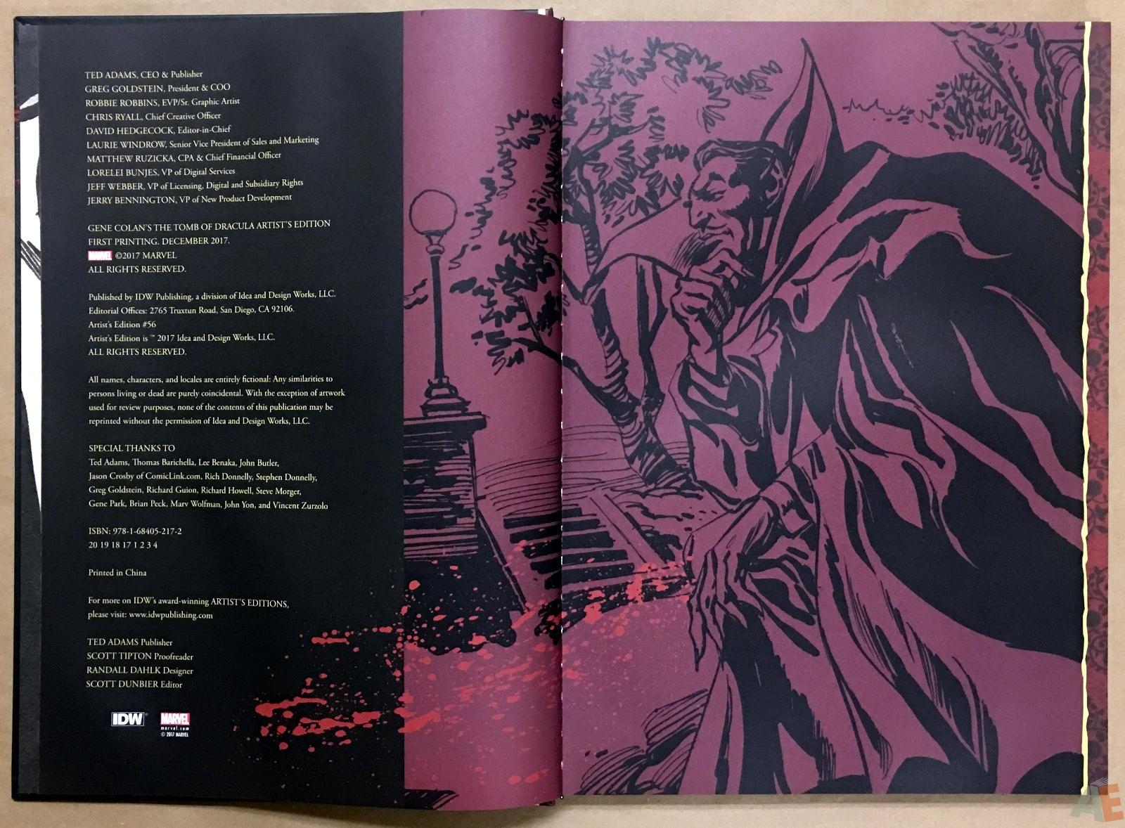 Gene Colan's Tomb Of Dracula Artist's Edition