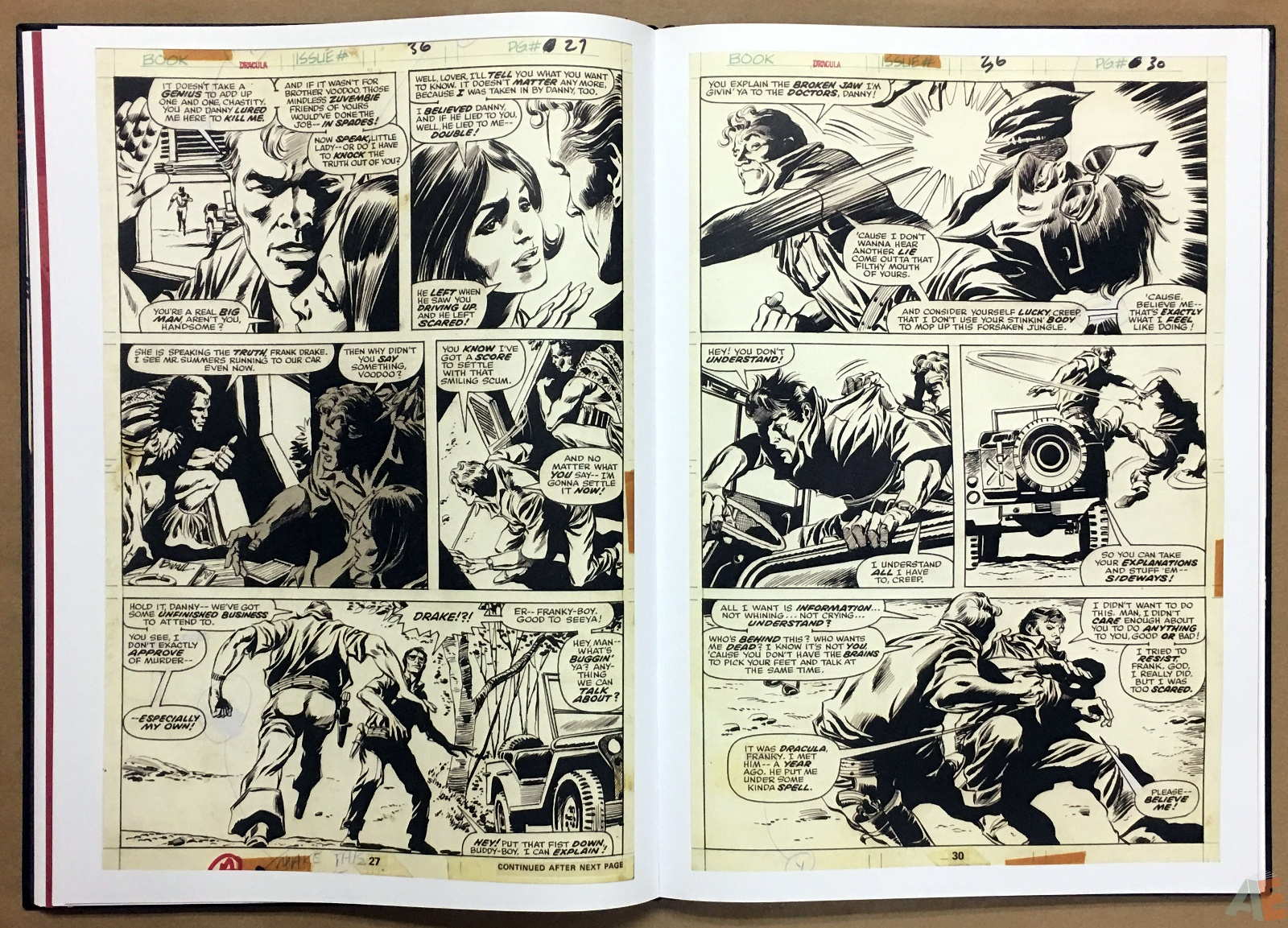 Gene Colan's Tomb Of Dracula Artist's Edition 22
