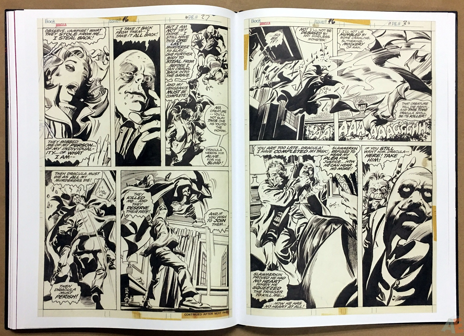 Gene Colan's Tomb Of Dracula Artist's Edition 30