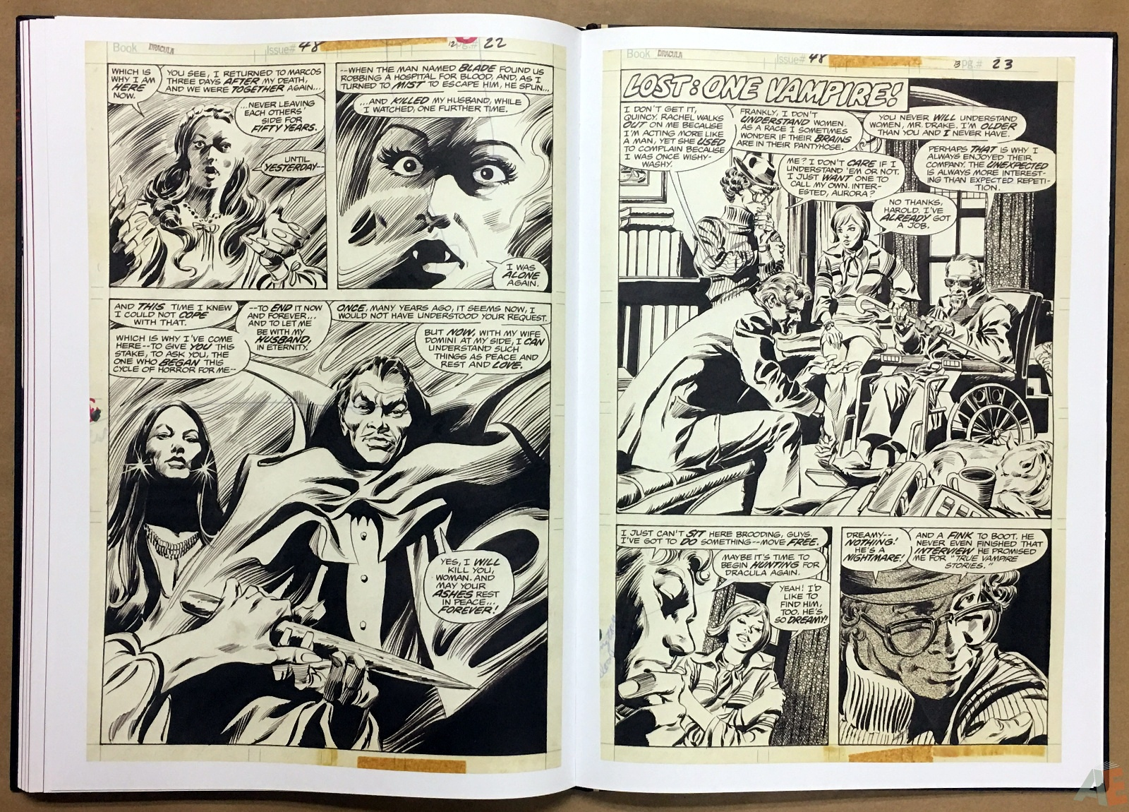 Gene Colan's Tomb Of Dracula Artist's Edition 34