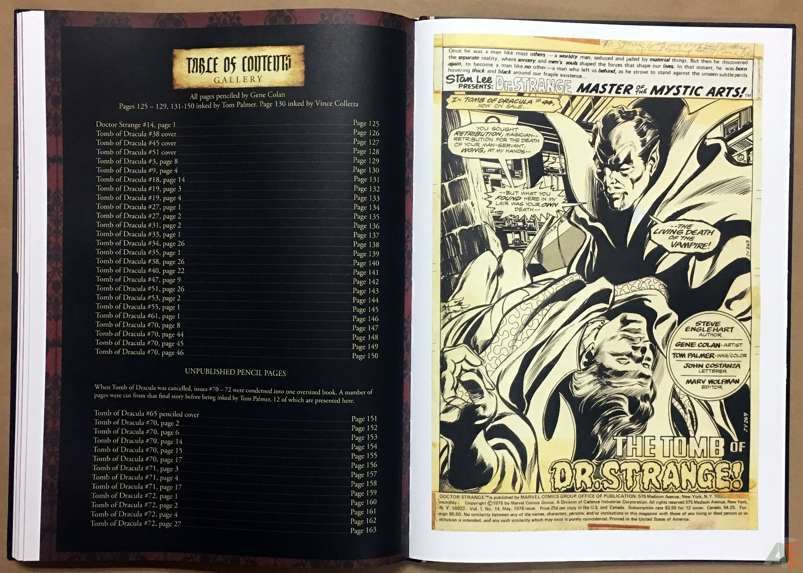 Gene Colan's Tomb Of Dracula Artist's Edition 36