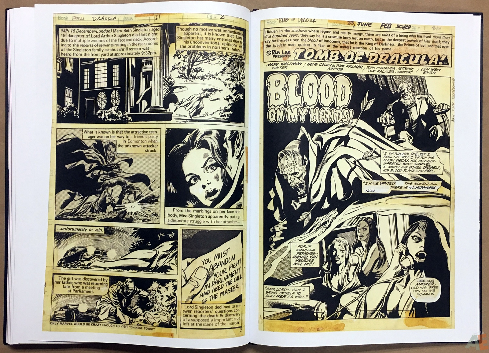 Gene Colan's Tomb Of Dracula Artist's Edition 40