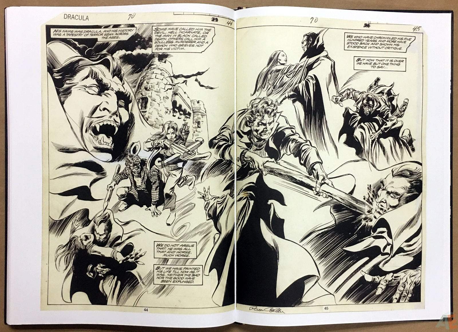 Gene Colan's Tomb Of Dracula Artist's Edition 44