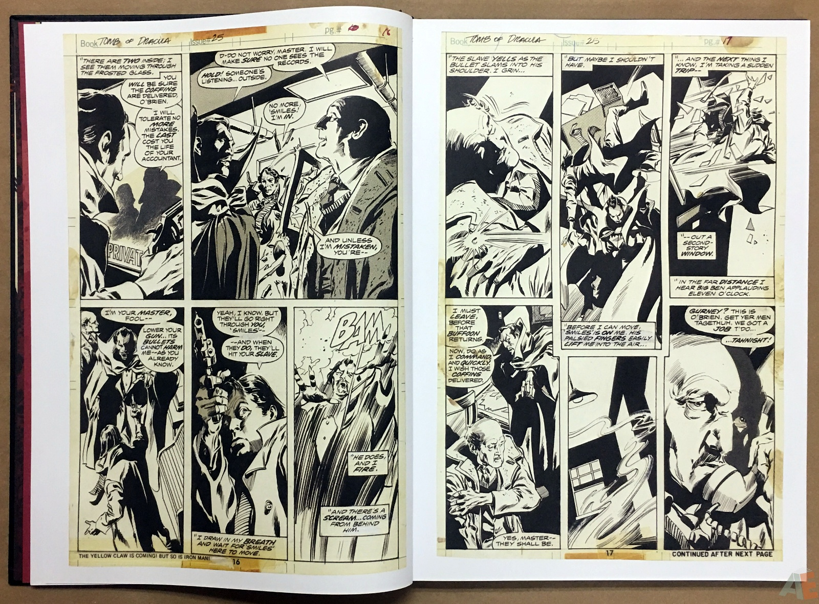 Gene Colan's Tomb Of Dracula Artist's Edition 12