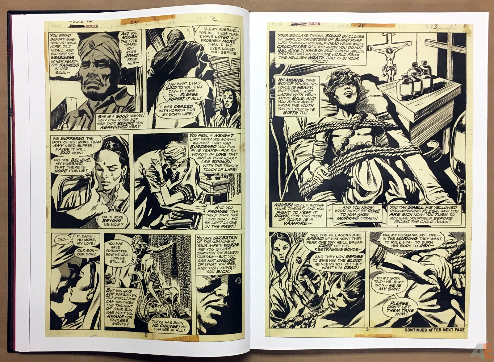 Gene Colan's Tomb Of Dracula Artist's Edition 14