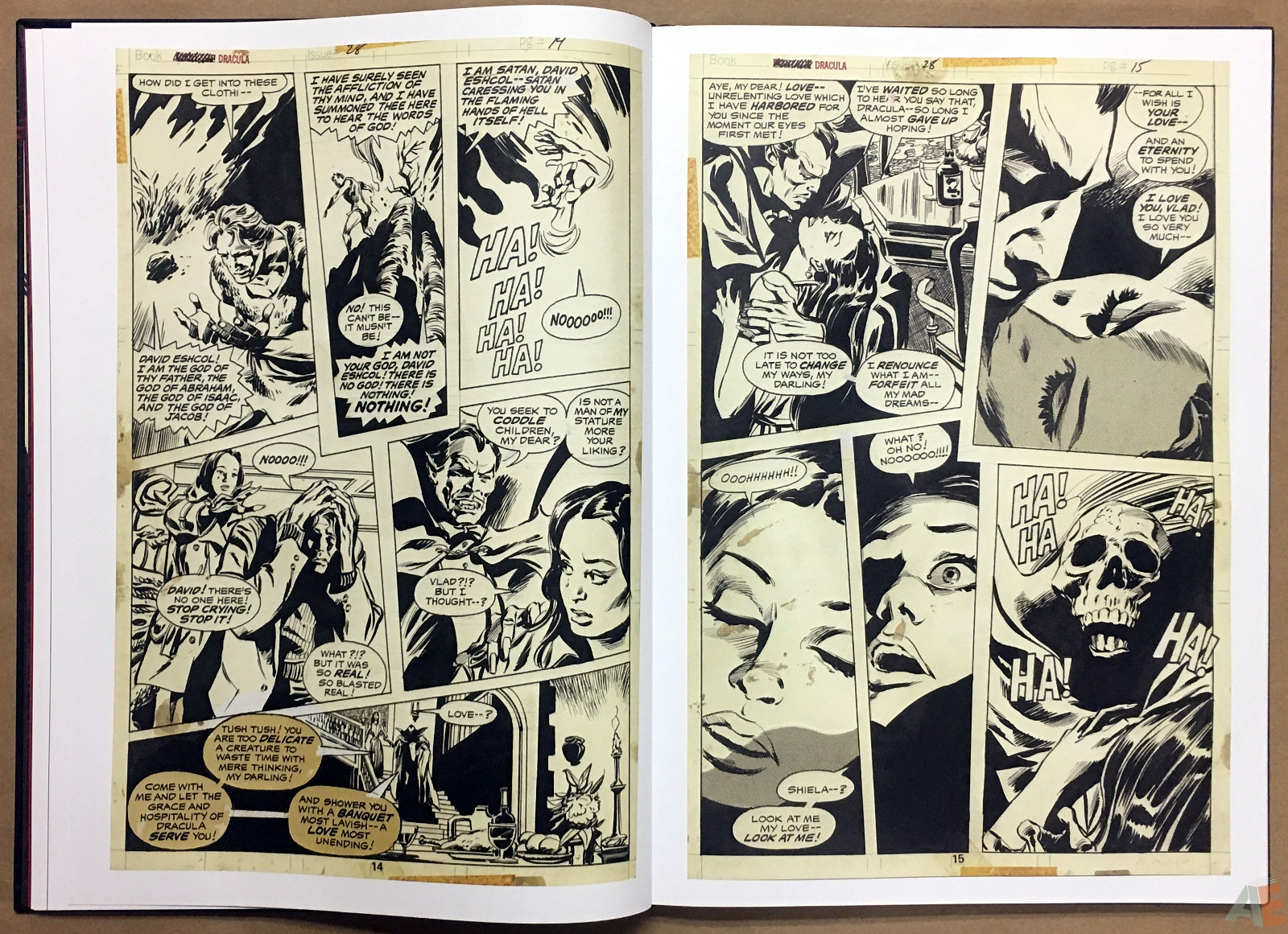 Gene Colan's Tomb Of Dracula Artist's Edition 16