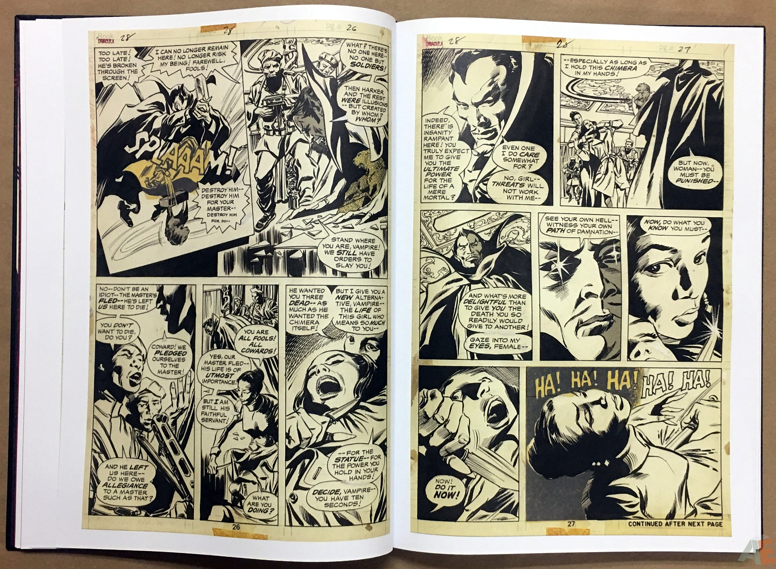 Gene Colan's Tomb Of Dracula Artist's Edition 18
