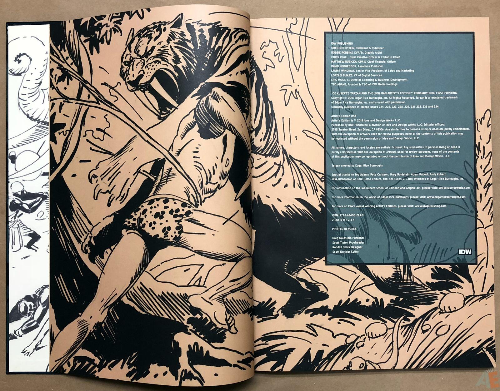 Joe Kubert's Tarzan and the Lion Man Artist's Edition 4