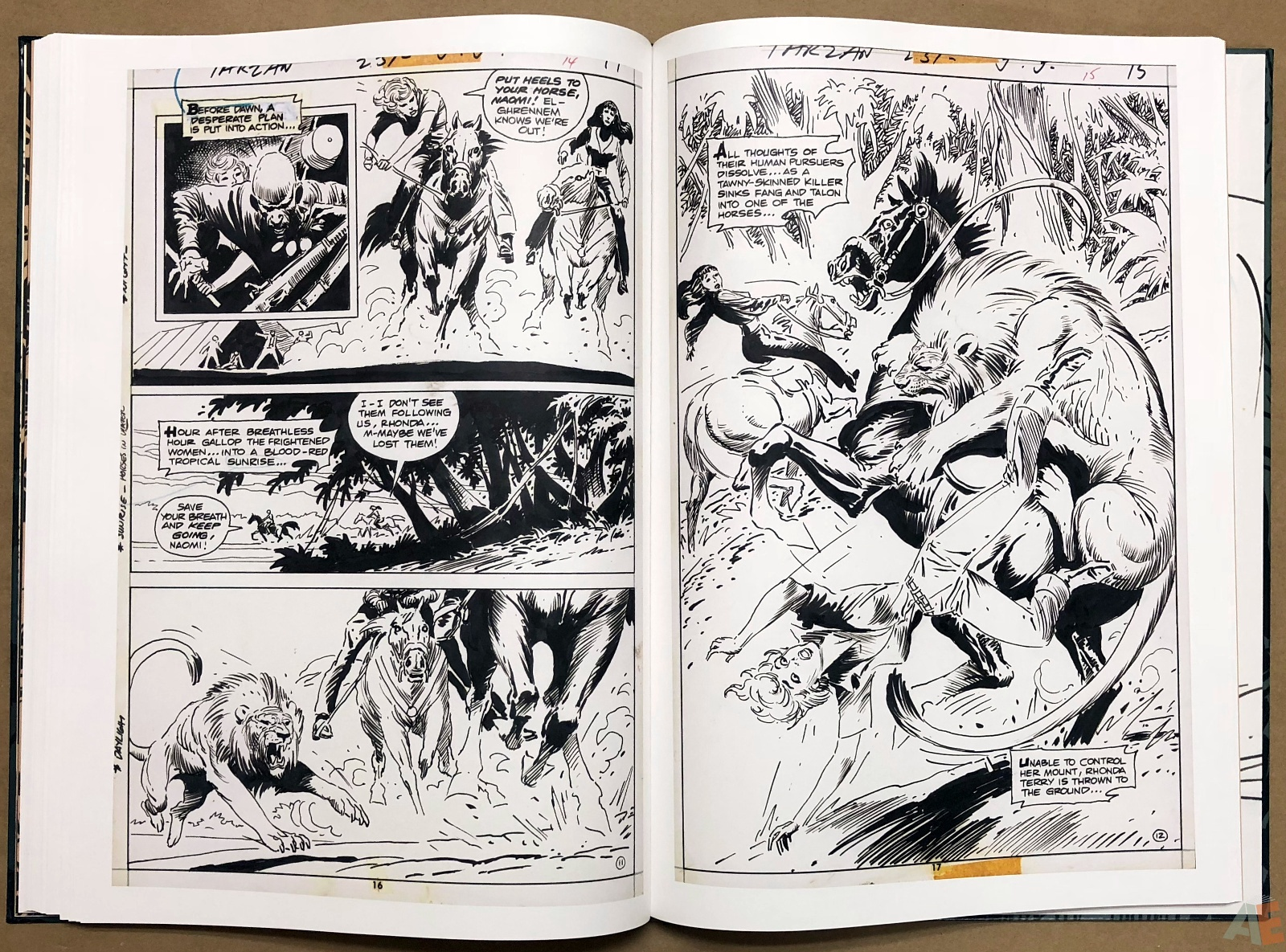 Joe Kubert's Tarzan and the Lion Man Artist's Edition 32