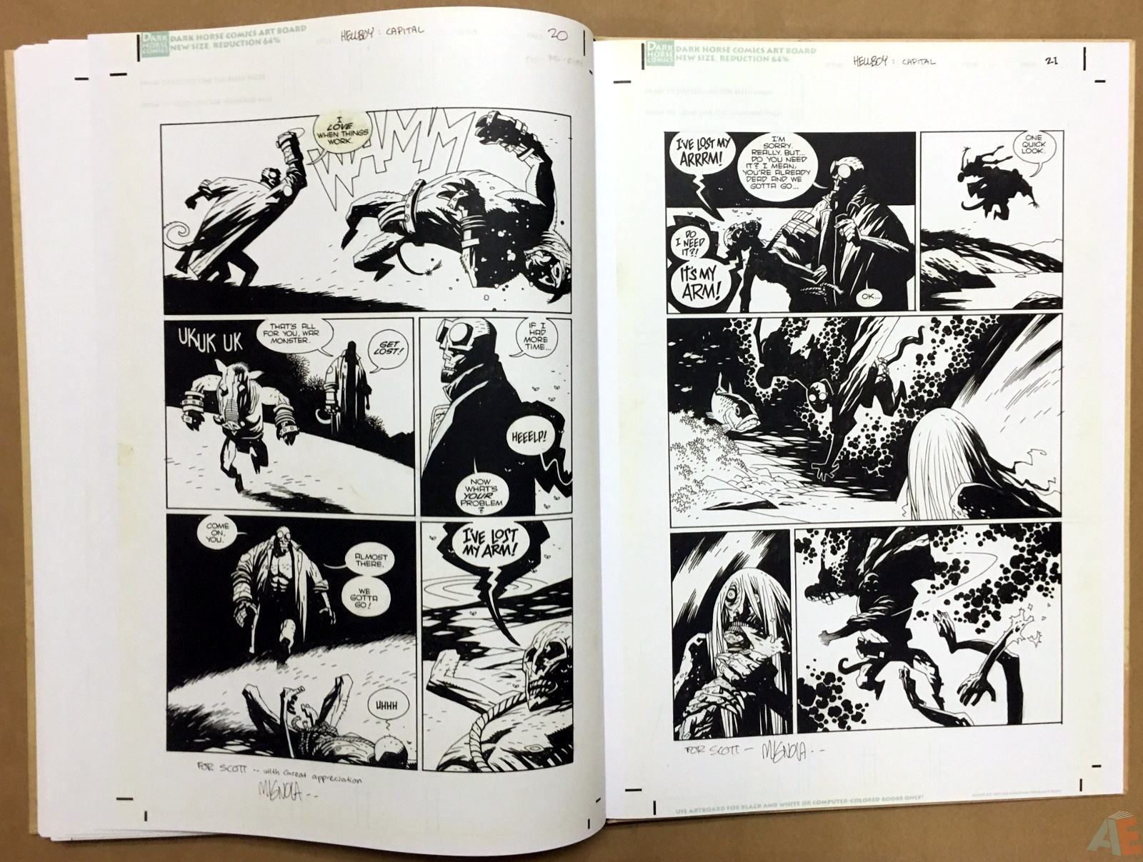 Mike Mignola's Hellboy In Hell and Other Stories Artist's Edition