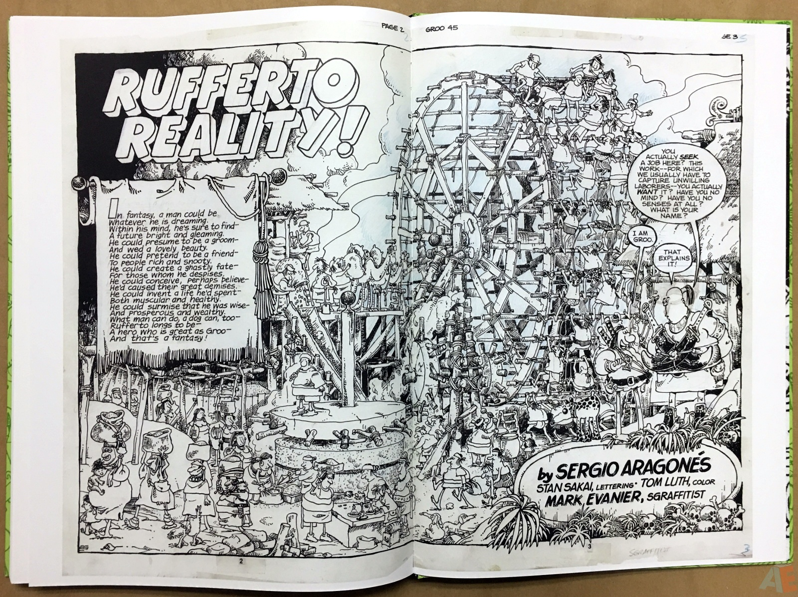 Sergio Aragonés Groo The Wanderer Artist's Edition 54