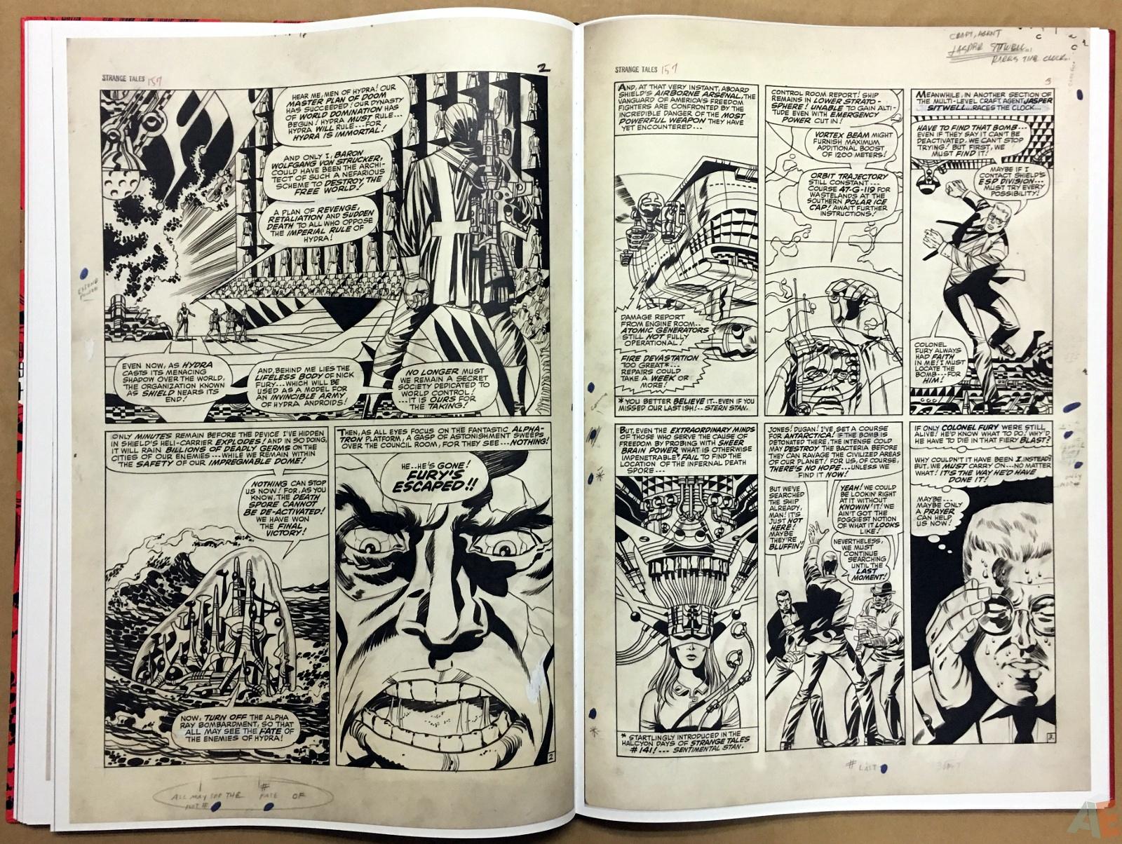 Steranko Nick Fury Agent of S.H.I.E.L.D. Artist's Edition 36