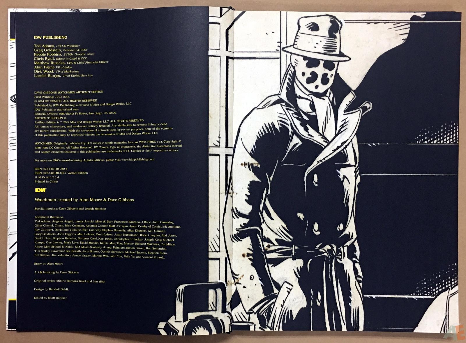 Dave Gibbons Watchmen Artifact Edition 4