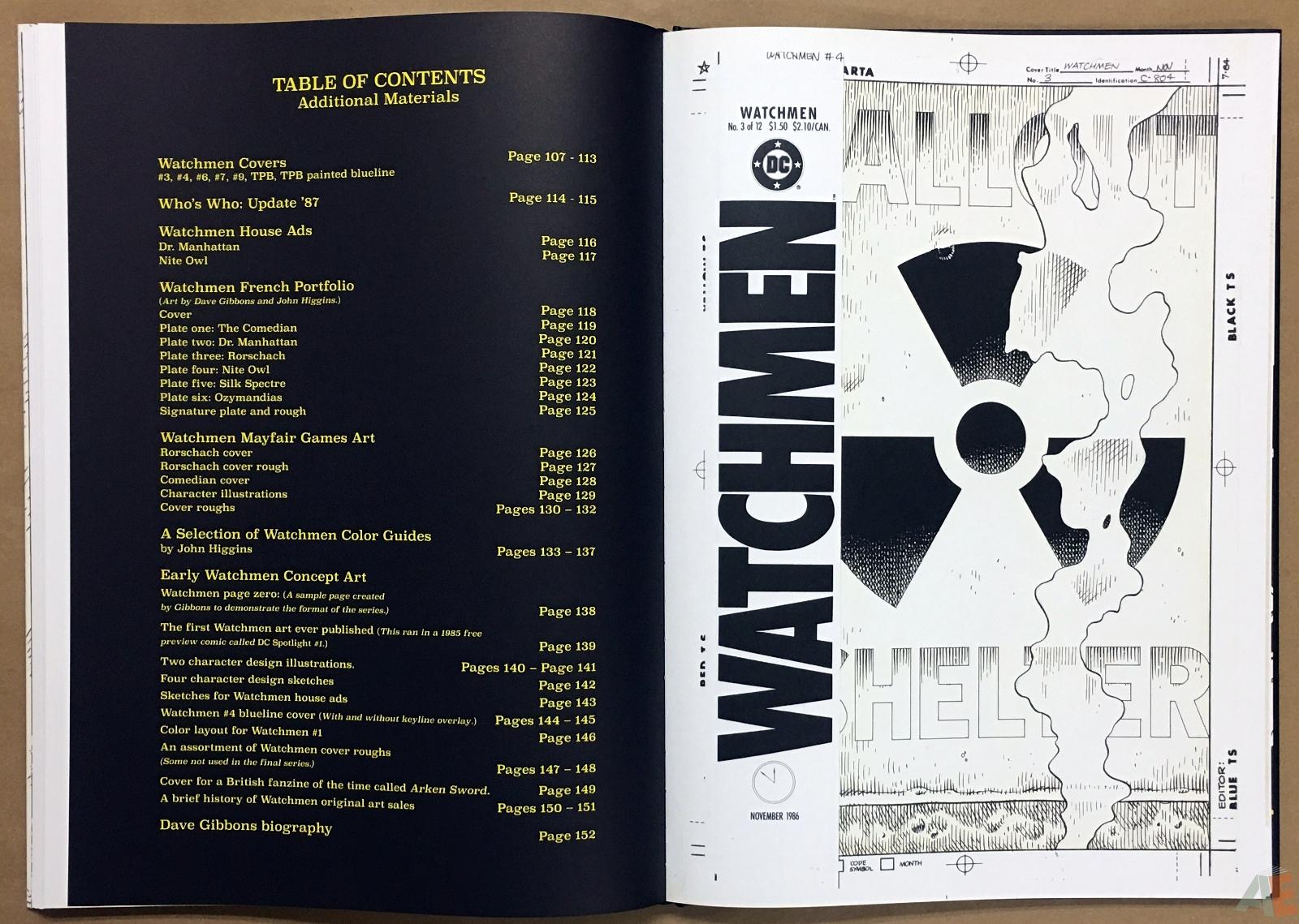 Dave Gibbons Watchmen Artifact Edition 34