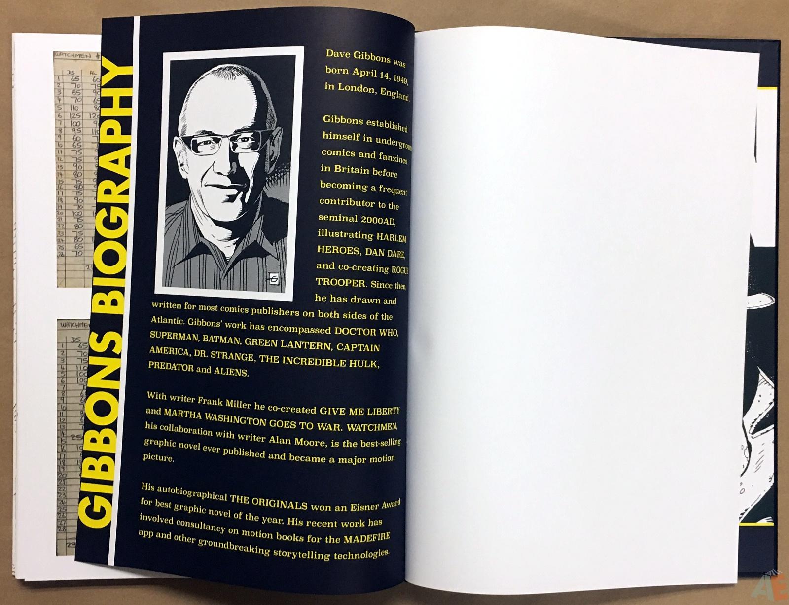 Dave Gibbons Watchmen Artifact Edition 52