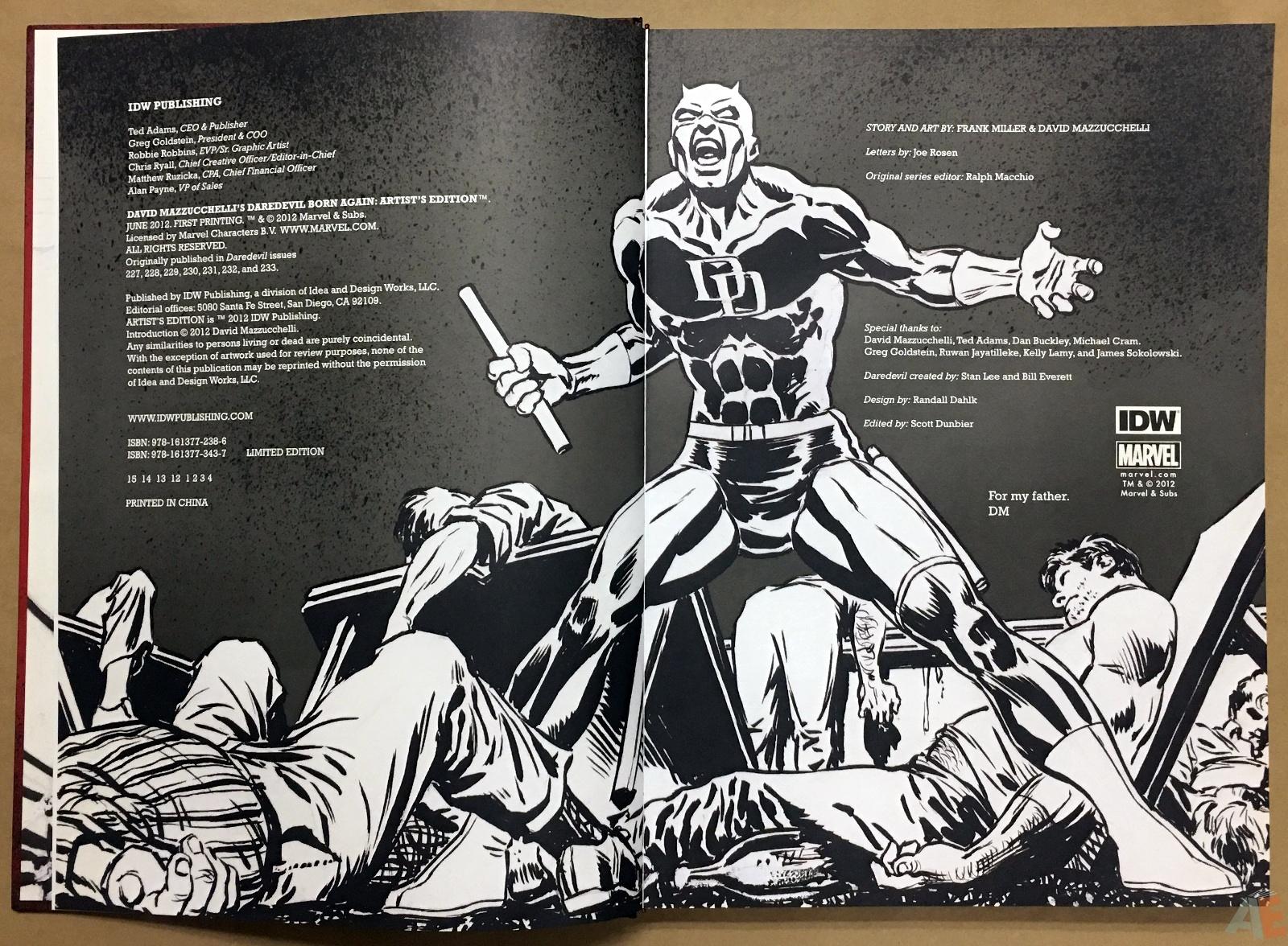 David Mazzucchelli's Daredevil Born Again: Artist's Edition 4