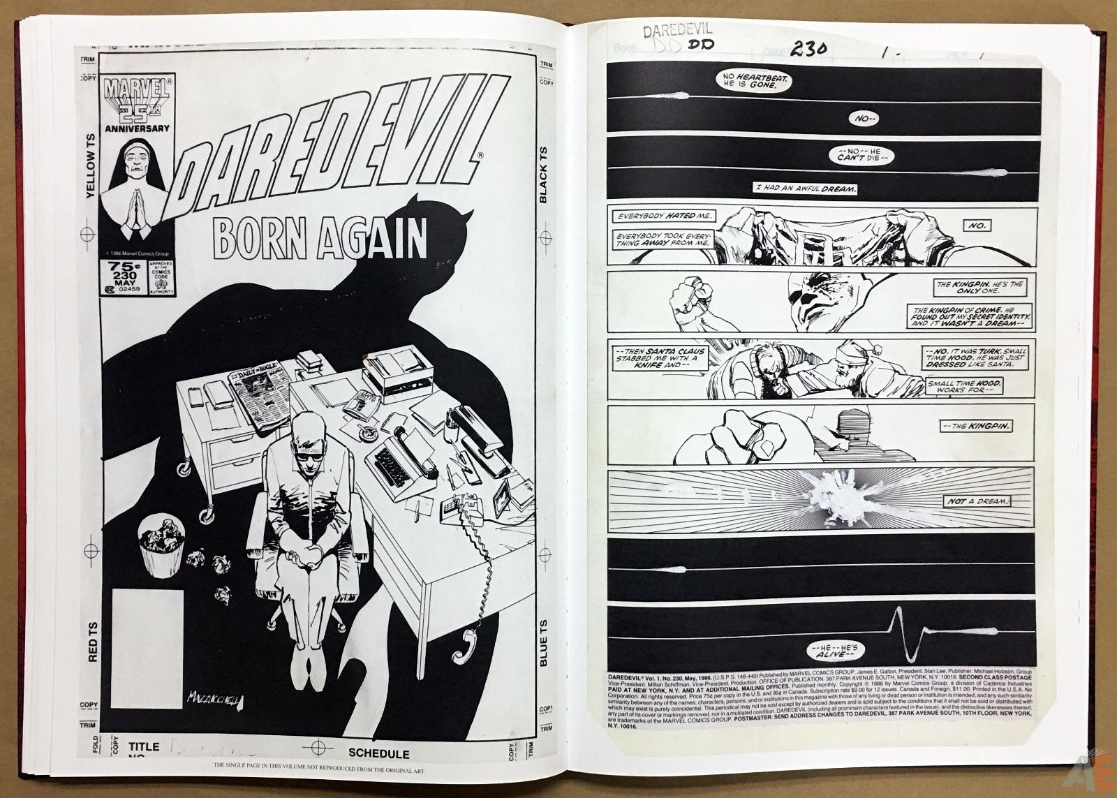 David Mazzucchelli's Daredevil Born Again: Artist's Edition 24