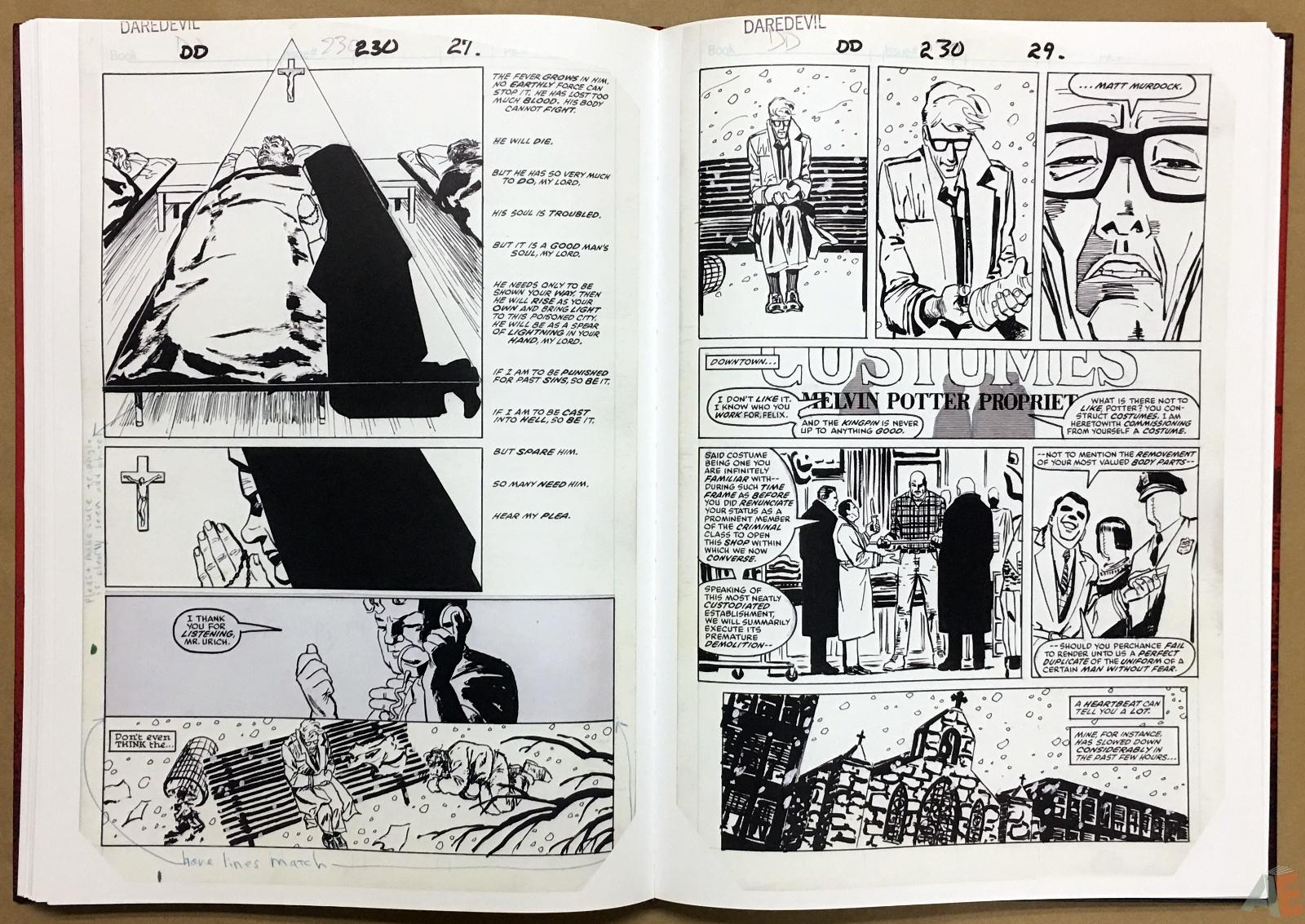 David Mazzucchelli's Daredevil Born Again: Artist's Edition 28