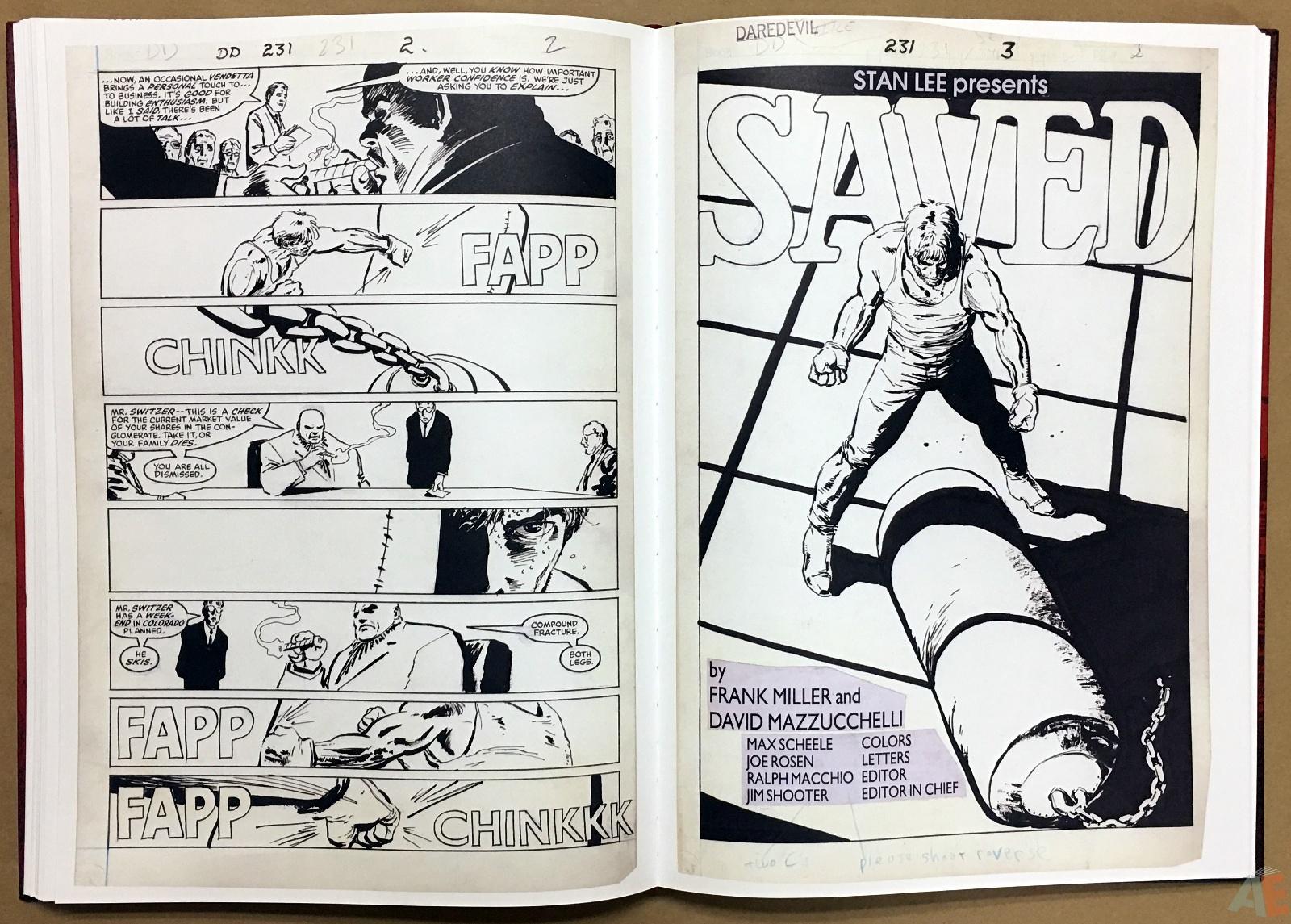 David Mazzucchelli's Daredevil Born Again: Artist's Edition 30