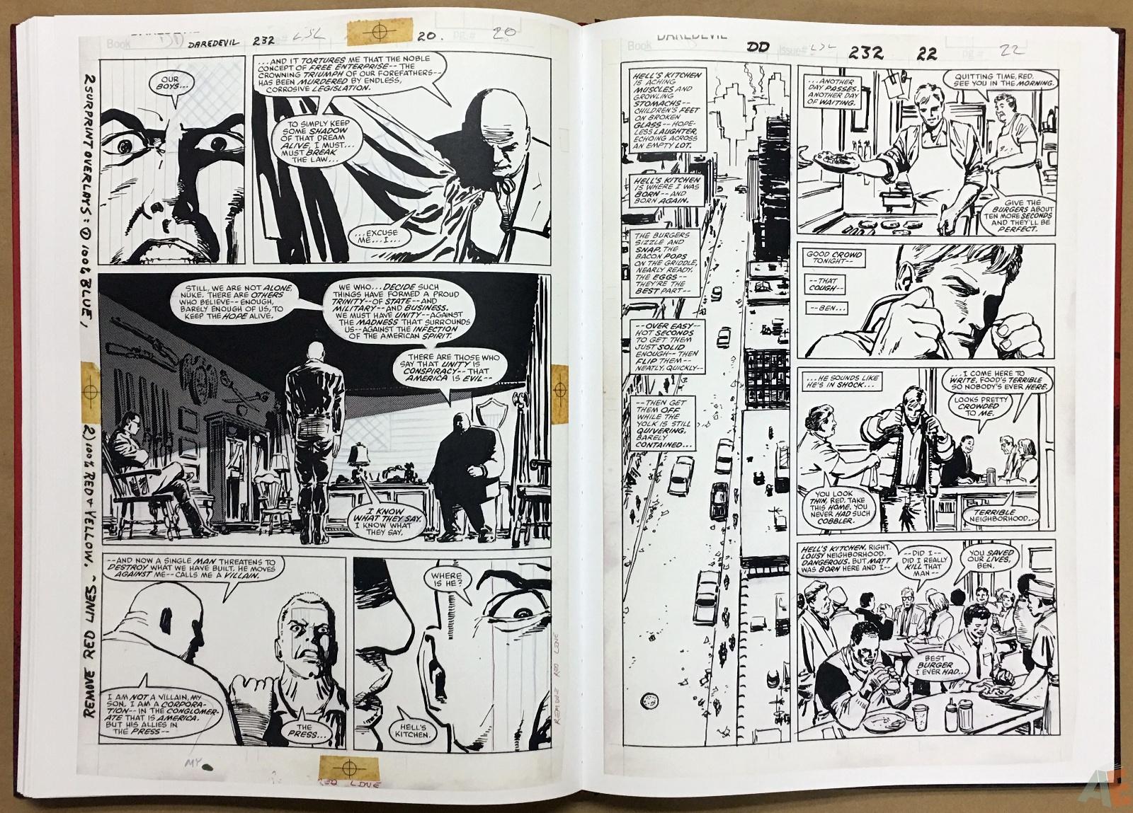David Mazzucchelli's Daredevil Born Again: Artist's Edition 38