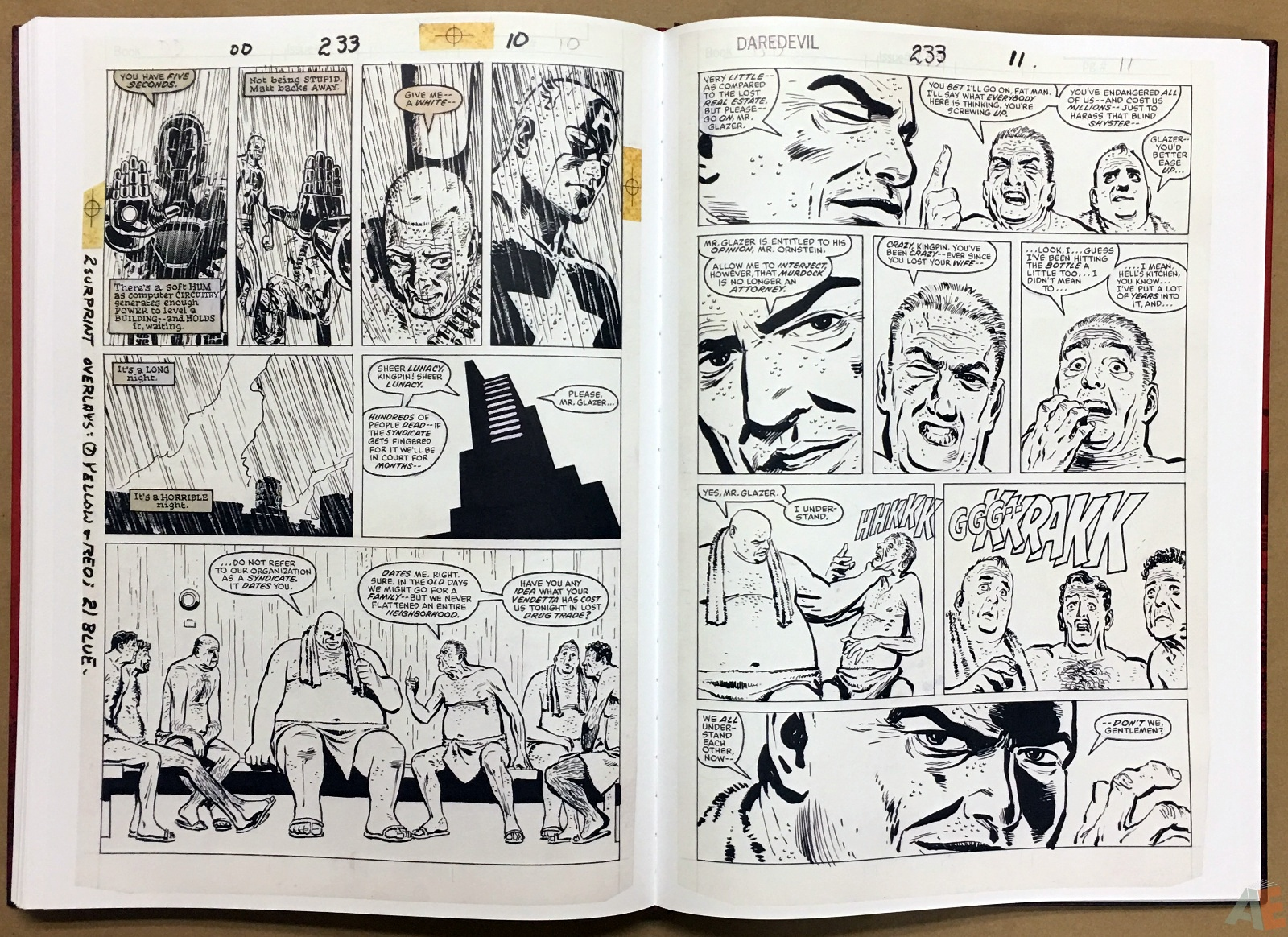 David Mazzucchelli's Daredevil Born Again: Artist's Edition 42
