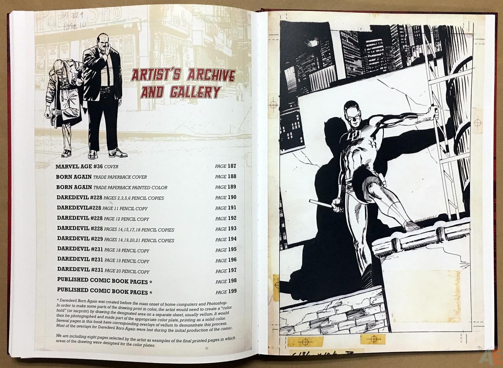 David Mazzucchelli's Daredevil Born Again: Artist's Edition 50