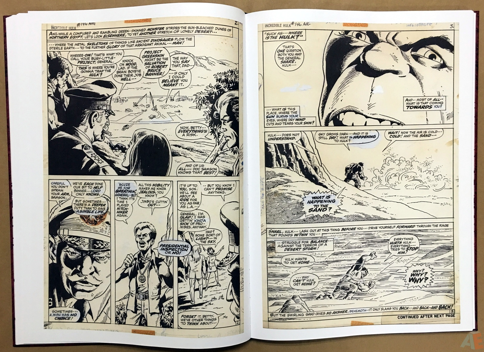 Herb Trimpe's The Incredible Hulk Artist's Edition 22