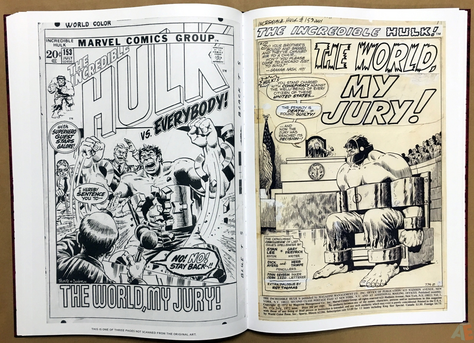 Herb Trimpe's The Incredible Hulk Artist's Edition 28