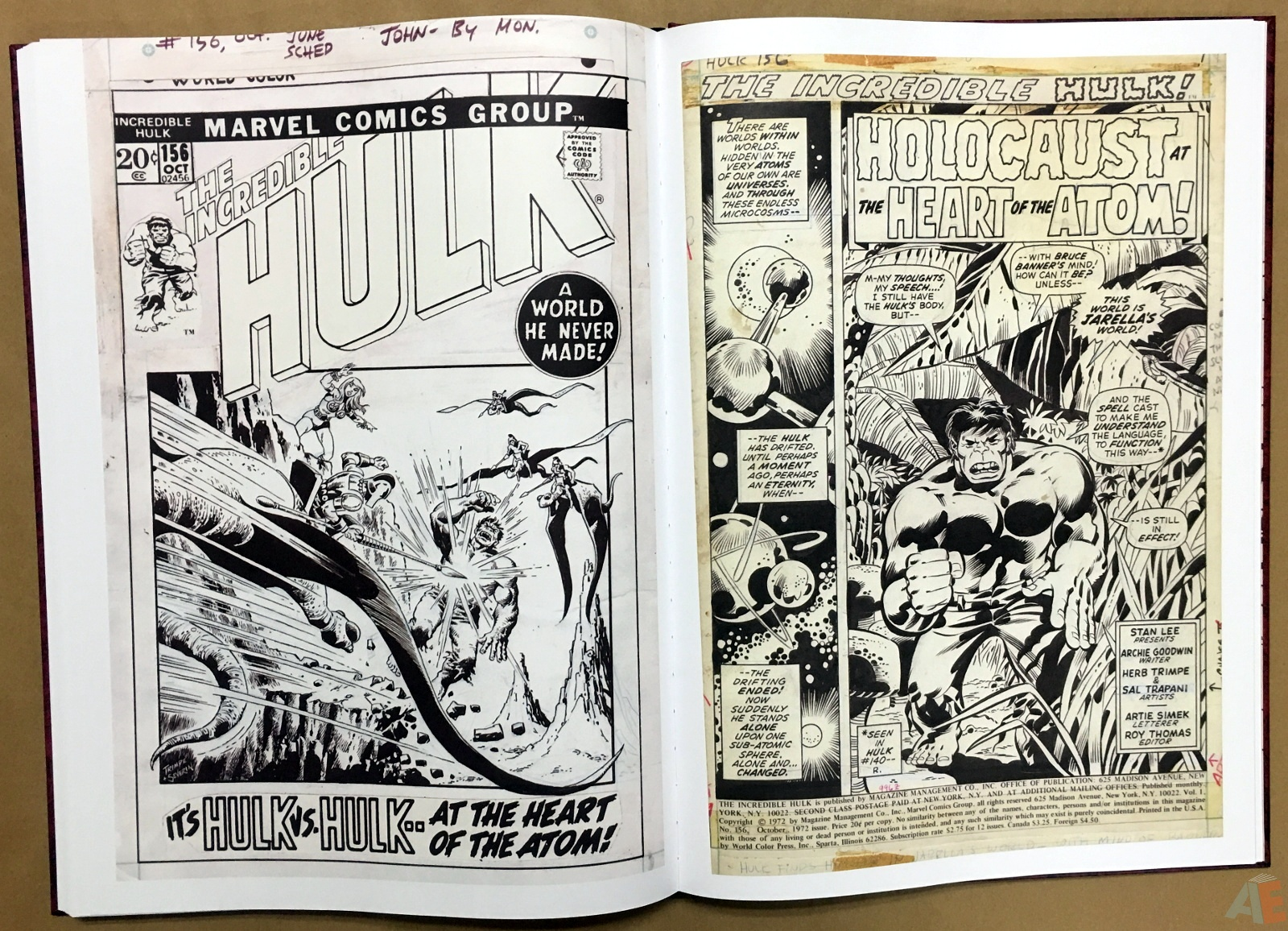 Herb Trimpe's The Incredible Hulk Artist's Edition 34