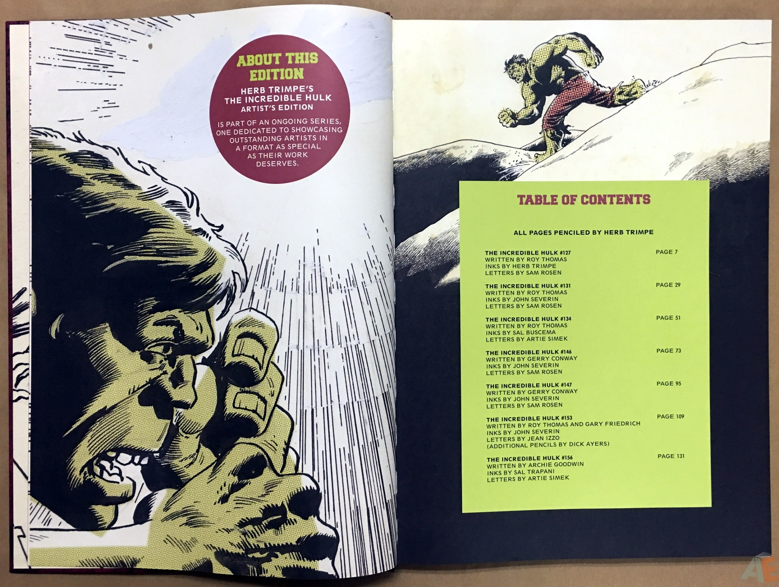 Herb Trimpe's The Incredible Hulk Artist's Edition 6