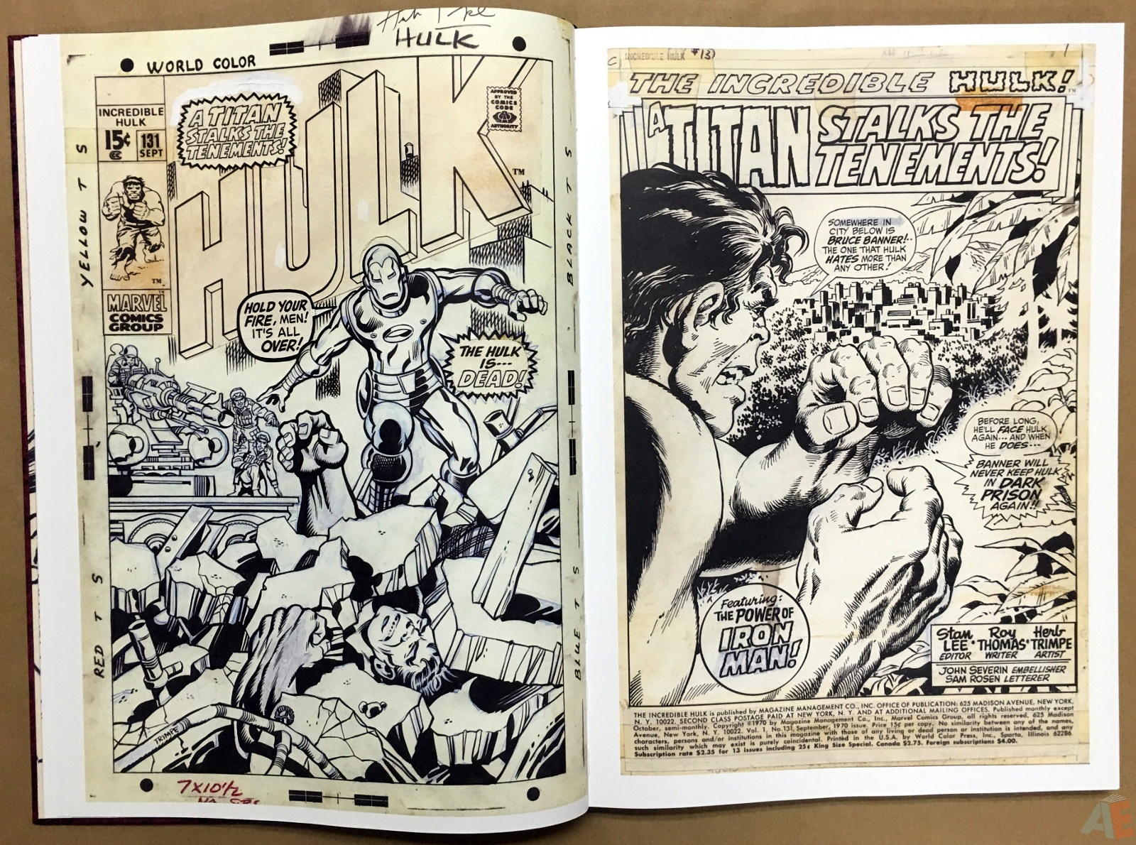 Herb Trimpe's The Incredible Hulk Artist's Edition 12