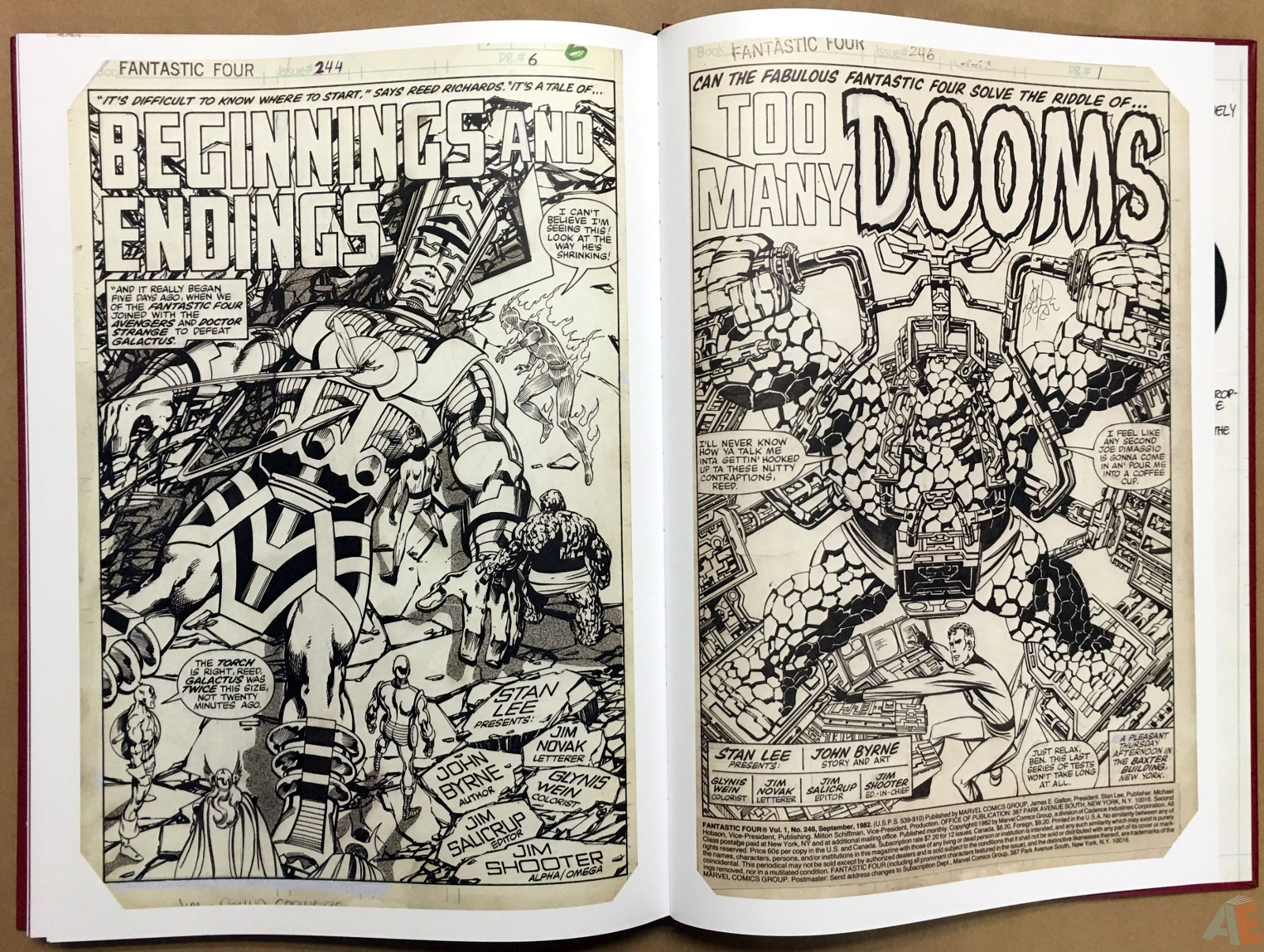 John Byrne's The Fantastic Four Artist's Edition 60