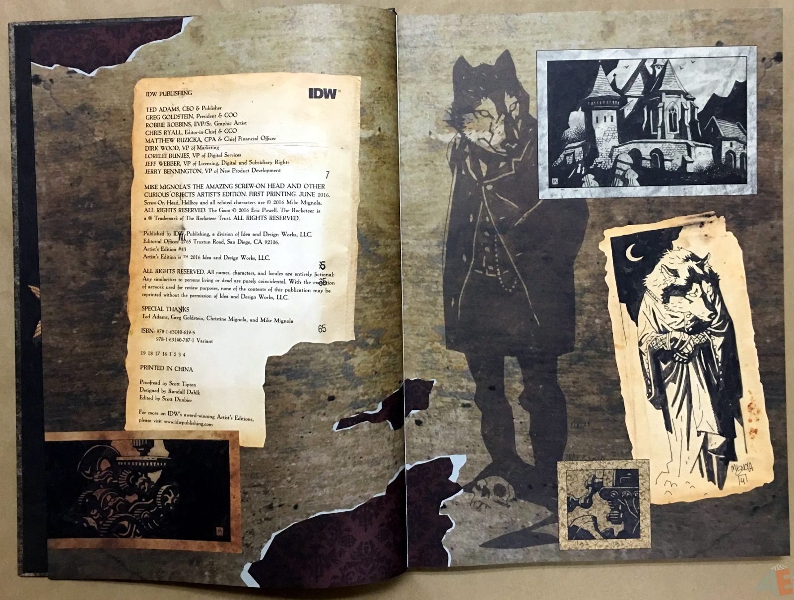 Mike Mignola's The Amazing Screw-On Head and Other Curious Objects Artist's Edition 4