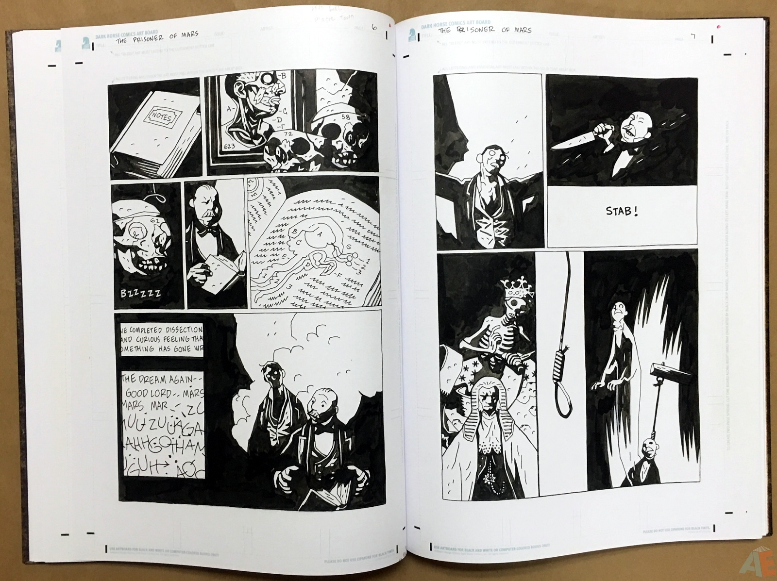 Mike Mignola's The Amazing Screw-On Head and Other Curious Objects Artist's Edition 28