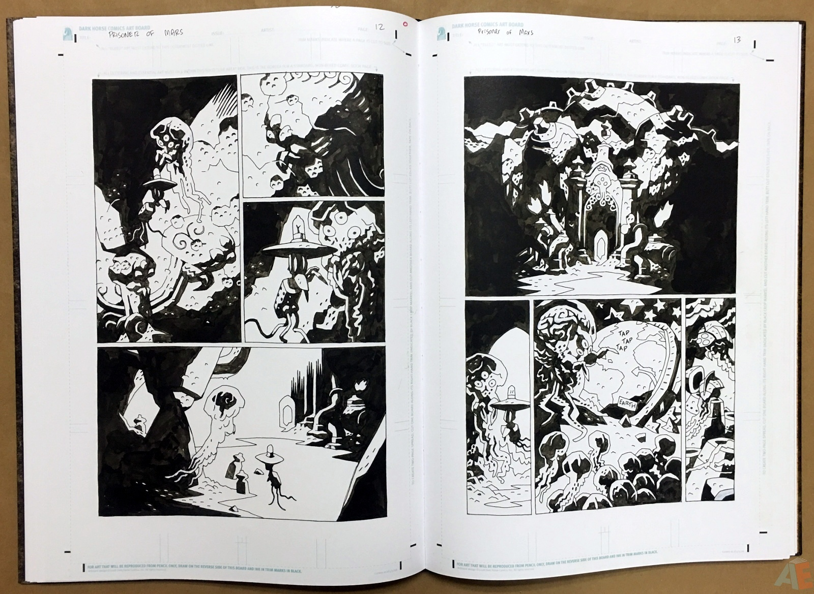 Mike Mignola's The Amazing Screw-On Head and Other Curious Objects Artist's Edition 30